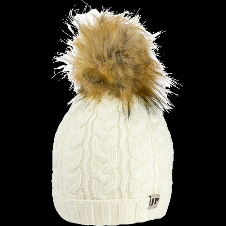 Jack Pyke Ladies Cable Knit Bob Hat Off White