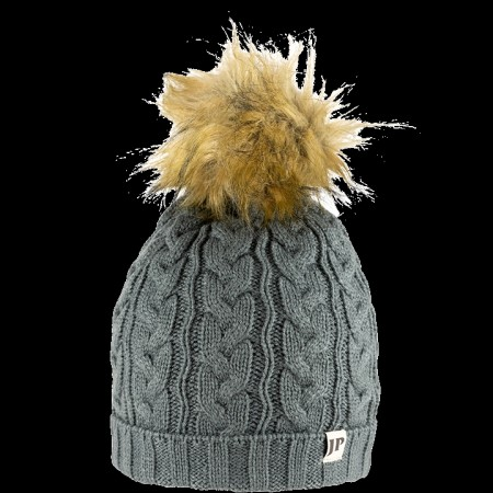 Jack Pyke Ladies Cable Knit Bob Hat Grey